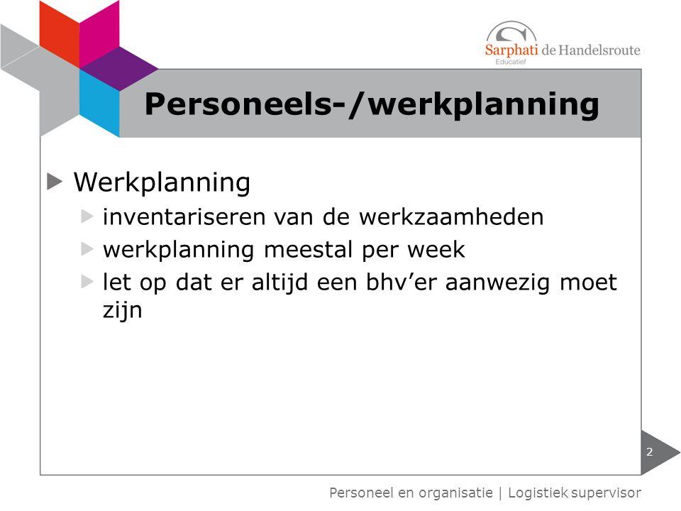 Personeels-/werkplanning