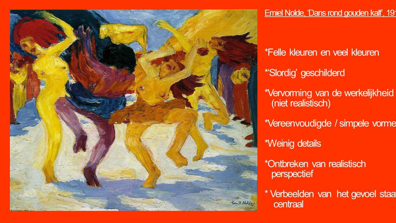 Emiel Nolde, 'Dans rond gouden kalf', 1910