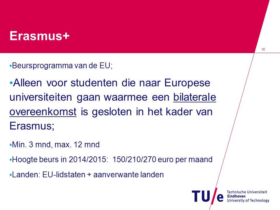 Erasmus+ Beursprogramma van de EU;