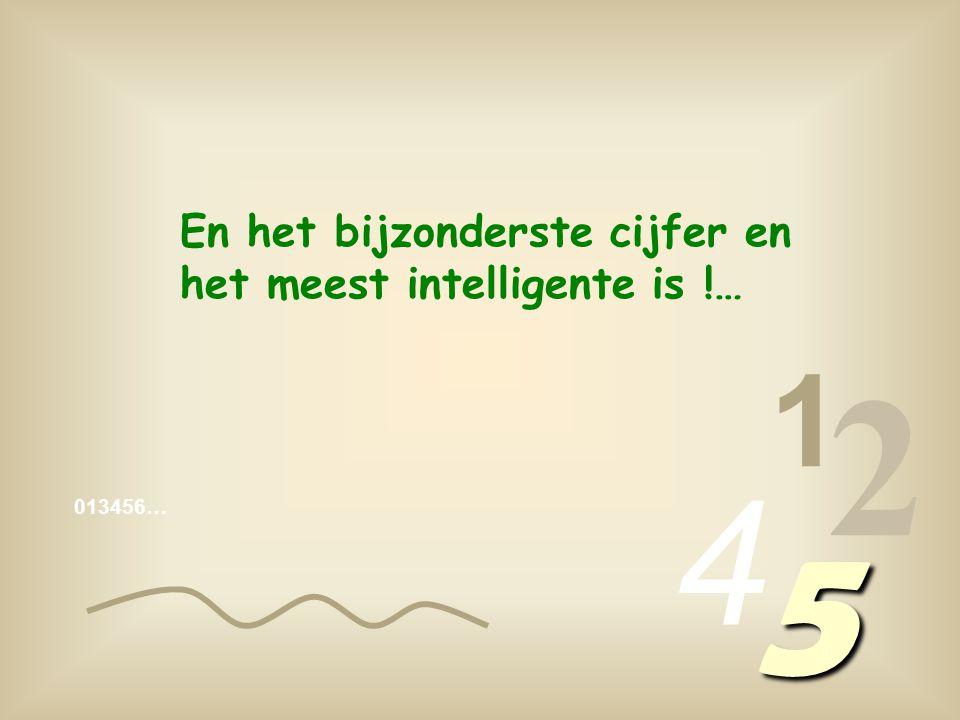 2 5 4 1 En het bijzonderste cijfer en het meest intelligente is !…