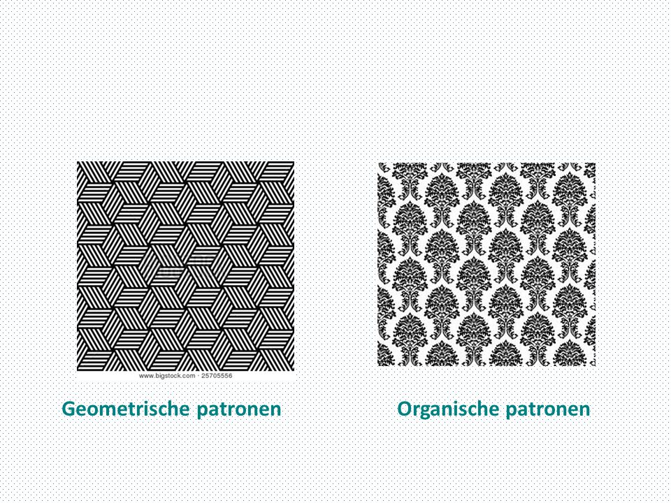 Geometrische patronen Organische patronen