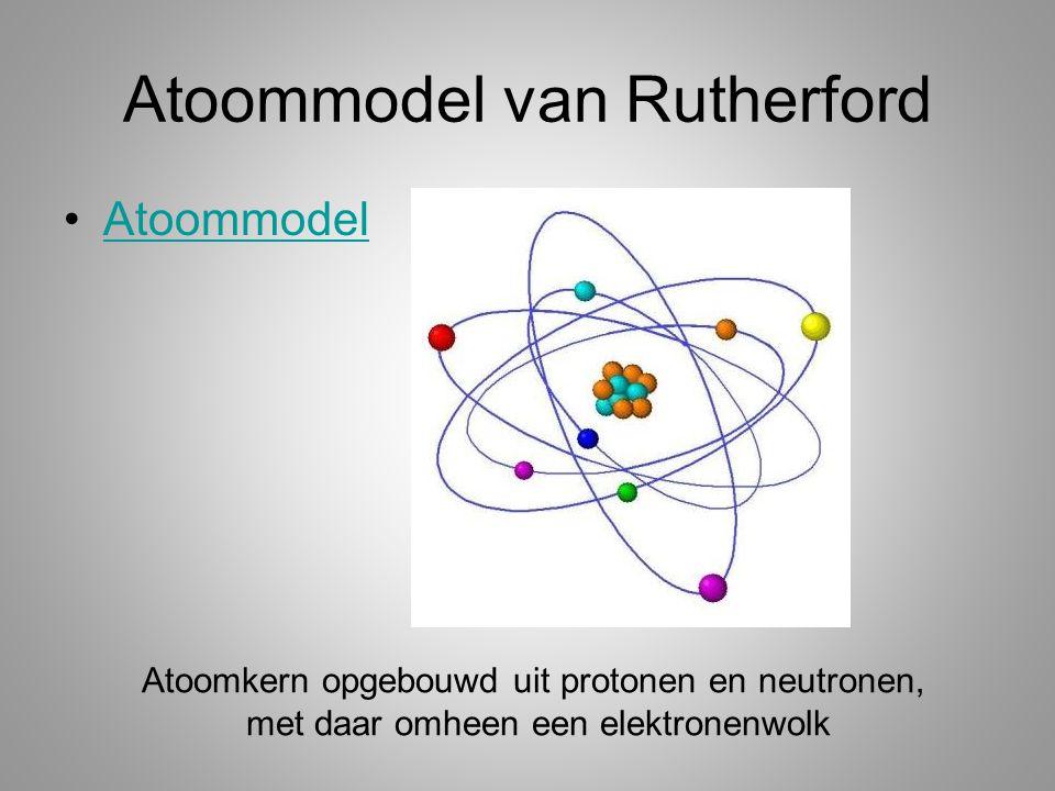 Atoommodel van Rutherford