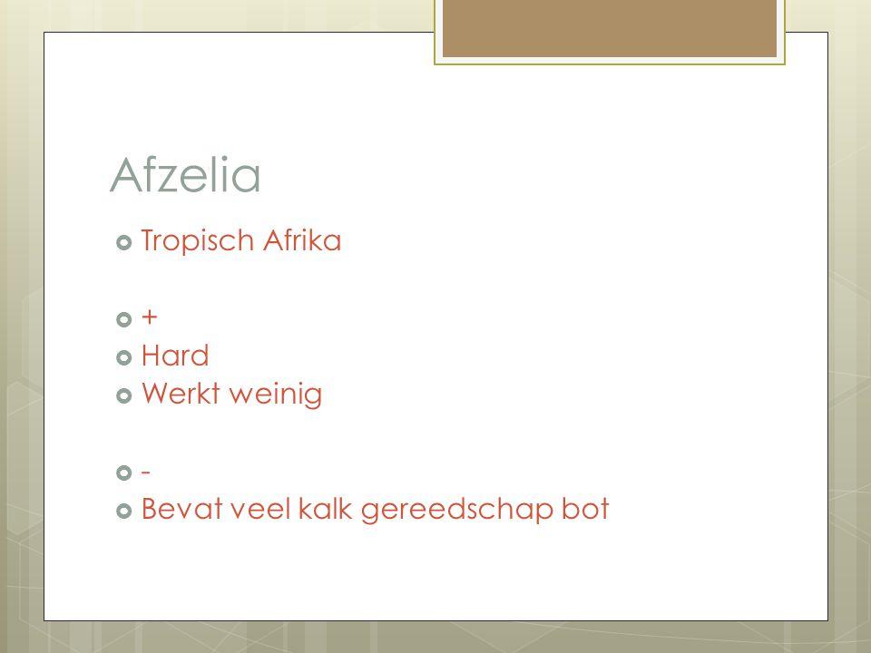 Afzelia Tropisch Afrika + Hard Werkt weinig -