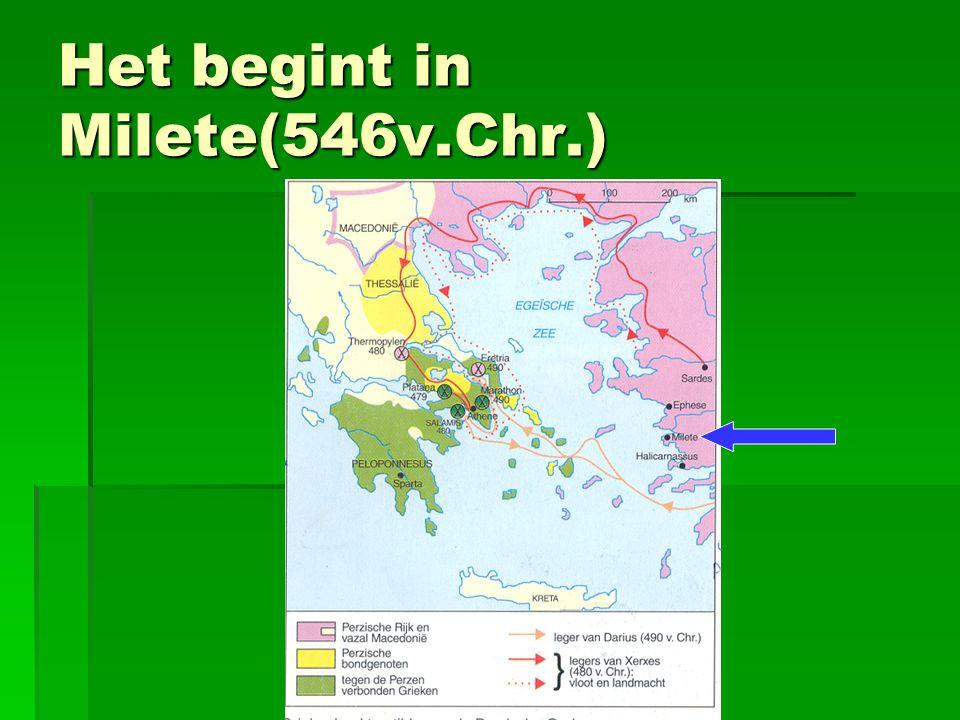 Het begint in Milete(546v.Chr.)
