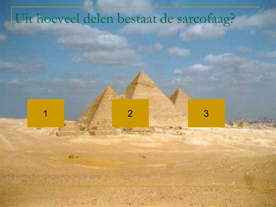 Uit hoeveel delen bestaat de sarcofaag