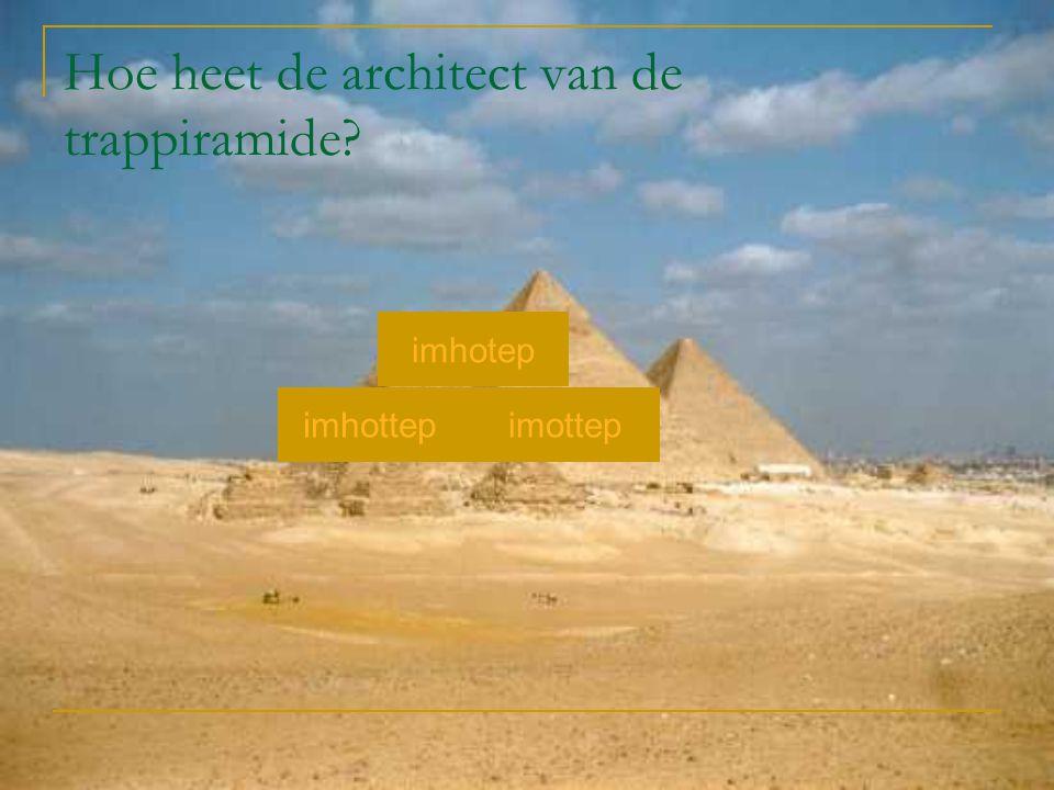 Hoe heet de architect van de trappiramide