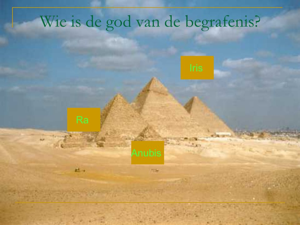 Wie is de god van de begrafenis