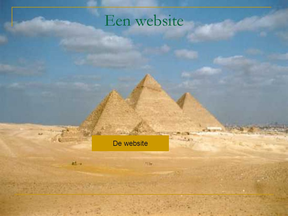 Een website De website