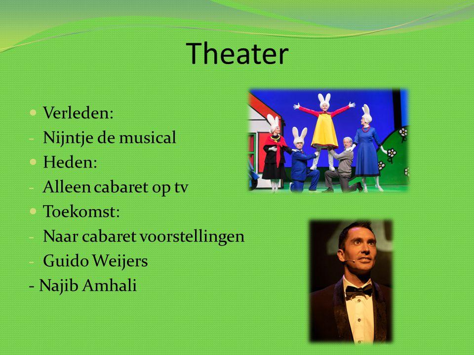 Theater Verleden: Nijntje de musical Heden: Alleen cabaret op tv