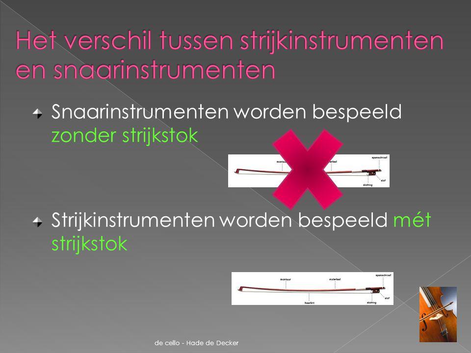 Het verschil tussen strijkinstrumenten en snaarinstrumenten