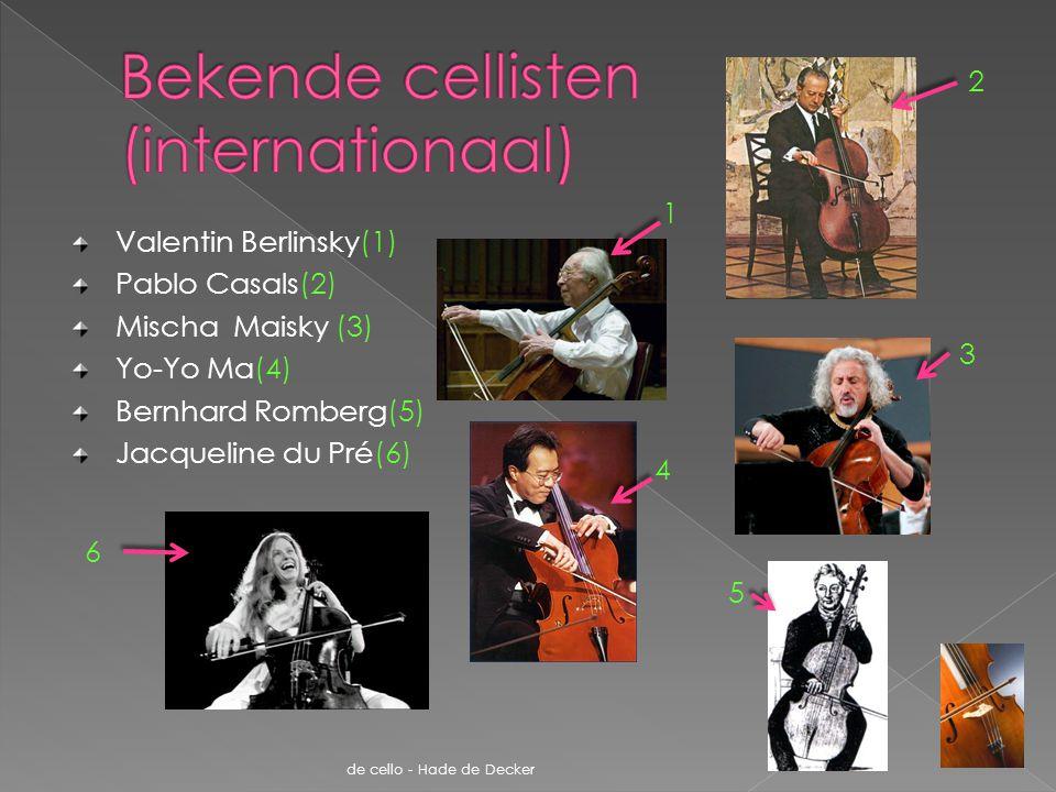 Bekende cellisten (internationaal)