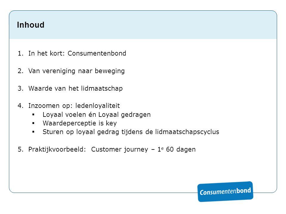 Inhoud In het kort: Consumentenbond Van vereniging naar beweging