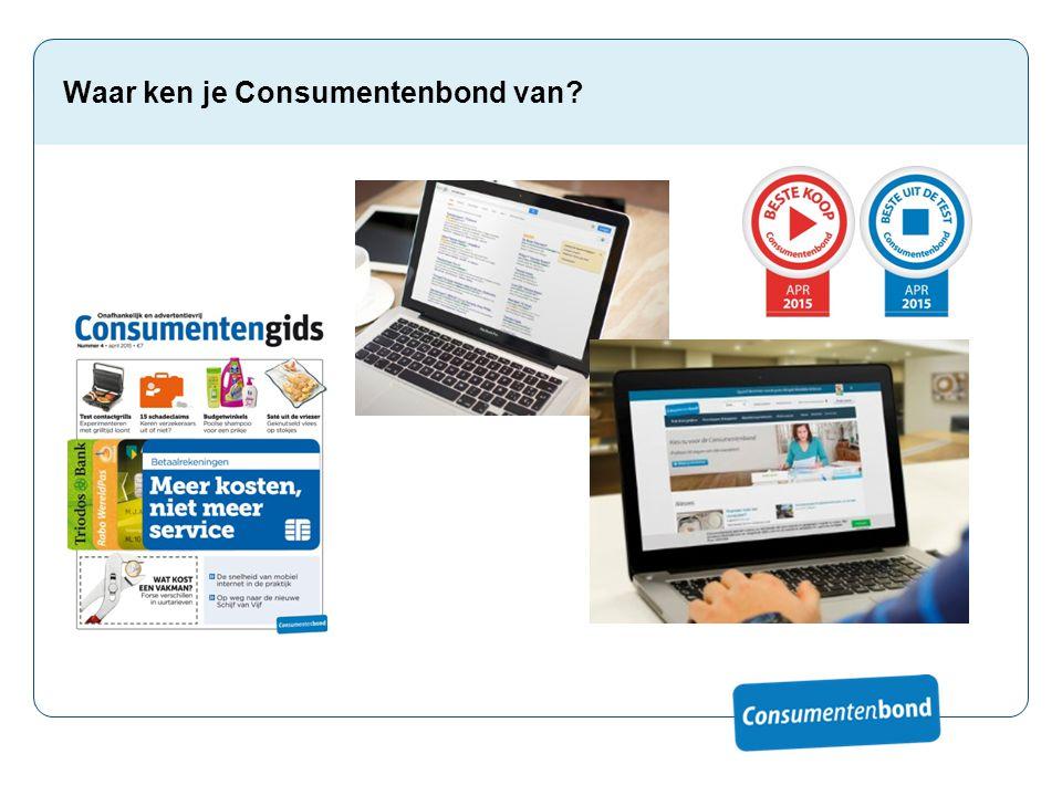 Waar ken je Consumentenbond van