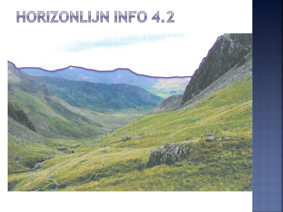 Horizonlijn info 4.2 Foto uit werkboek van de leerlingen