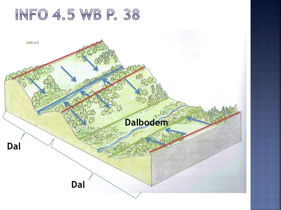 Info 4.5 wb p. 38 Dalbodem Foto uit werkboek van de leerlingen Dal Dal