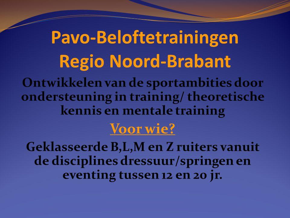Pavo-Beloftetrainingen Regio Noord-Brabant