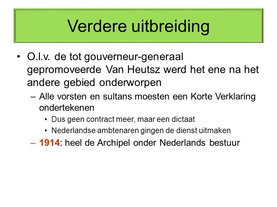 Verdere uitbreiding O.l.v. de tot gouverneur-generaal gepromoveerde Van Heutsz werd het ene na het andere gebied onderworpen.