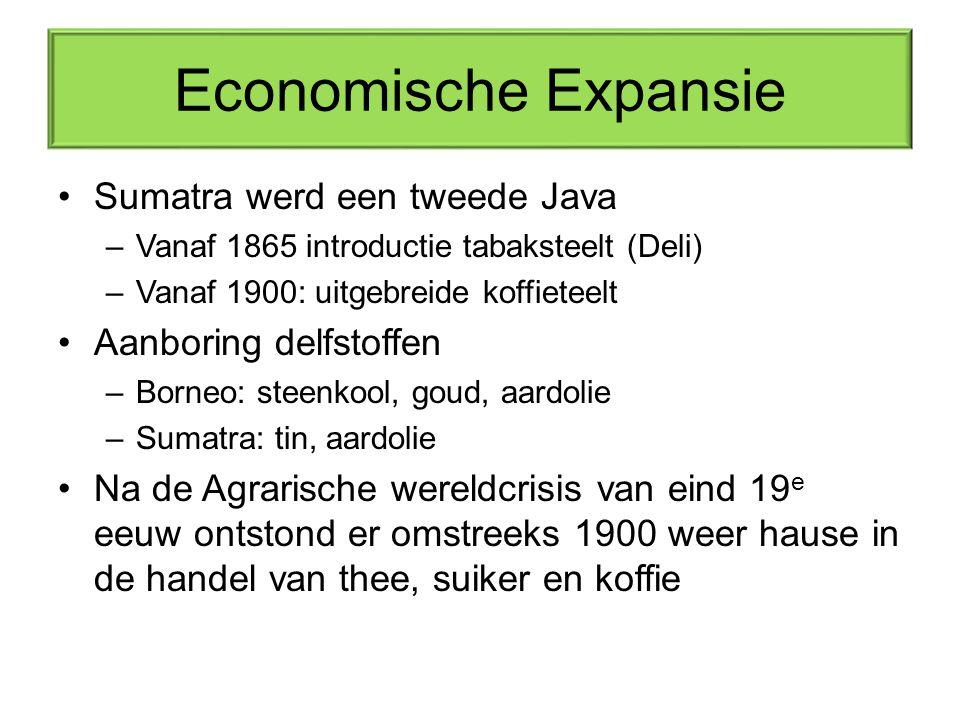Economische Expansie Sumatra werd een tweede Java