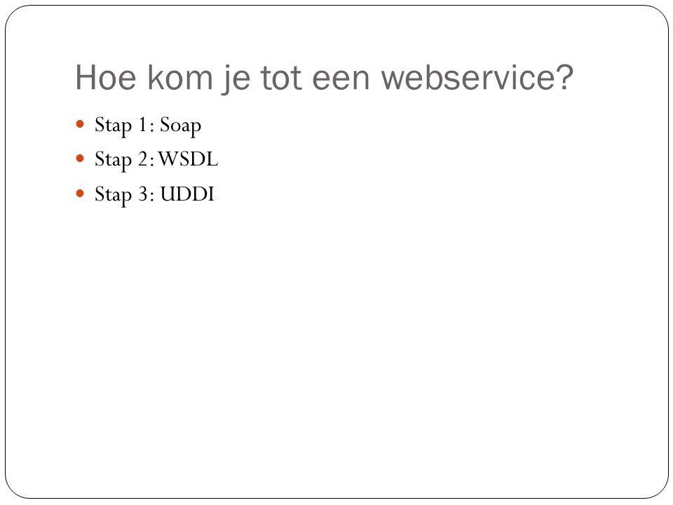 Hoe kom je tot een webservice