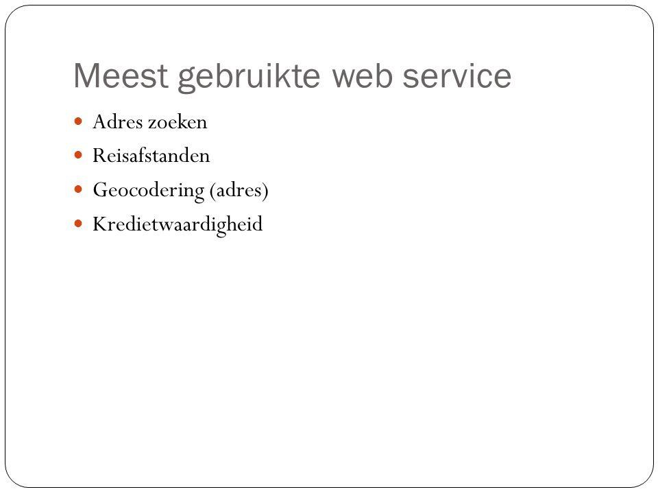Meest gebruikte web service