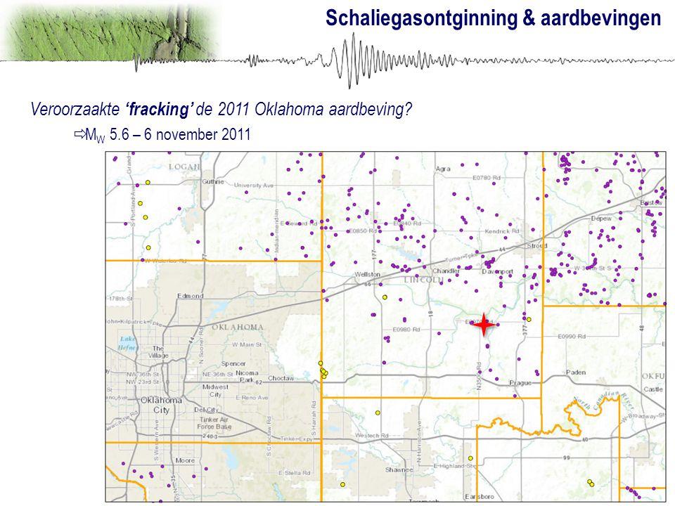 Schaliegasontginning & aardbevingen