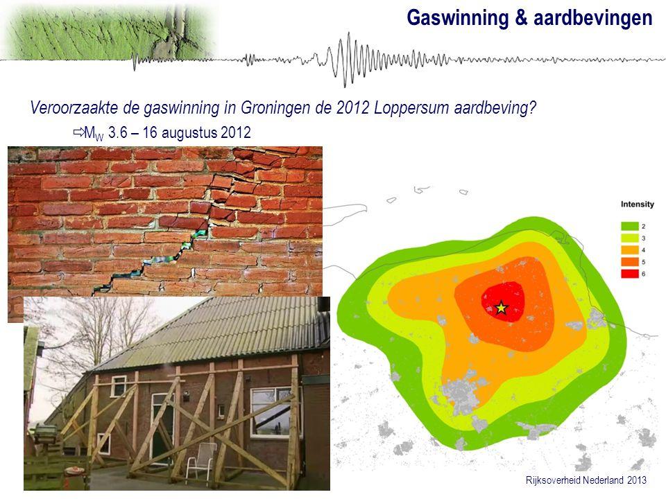 Gaswinning & aardbevingen