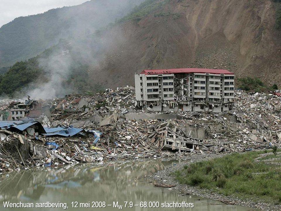 Wenchuan aardbeving, 12 mei 2008 – MW 7.9 – 68.000 slachtoffers