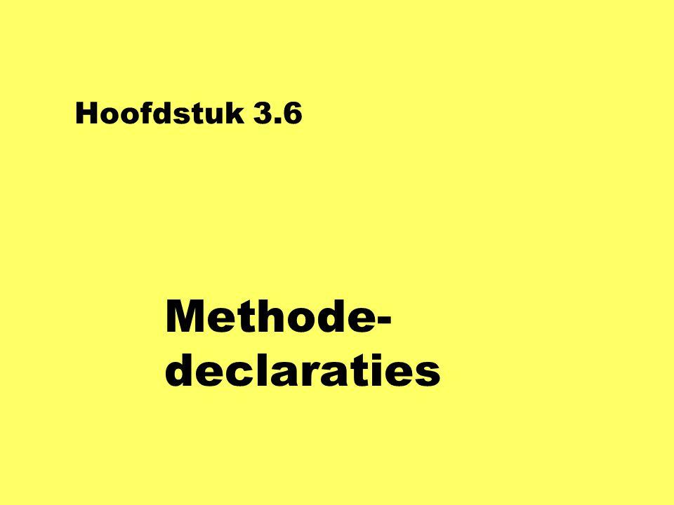 Hoofdstuk 3.6 Methode-declaraties
