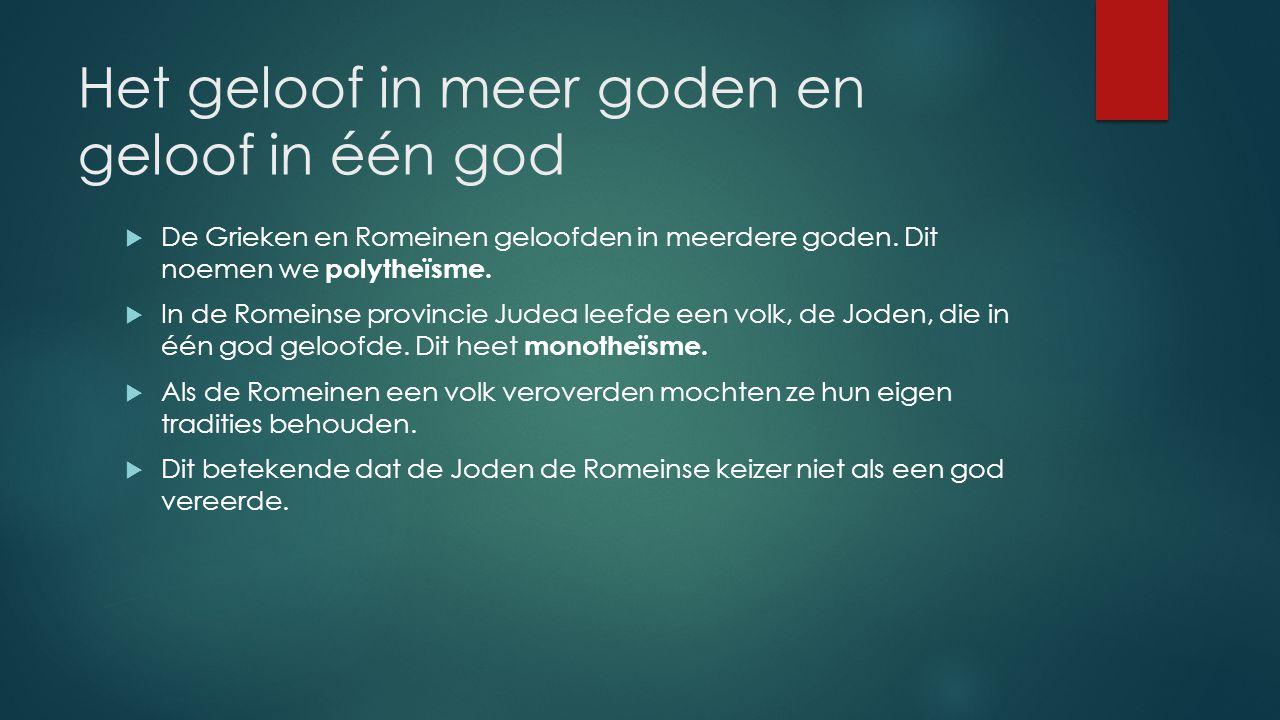 Het geloof in meer goden en geloof in één god