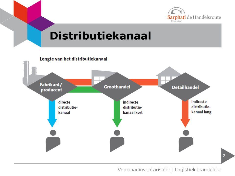 Distributiekanaal Voorraadinventarisatie | Logistiek teamleider