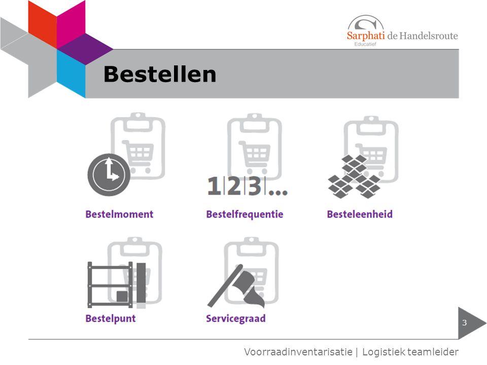 Bestellen Voorraadinventarisatie | Logistiek teamleider