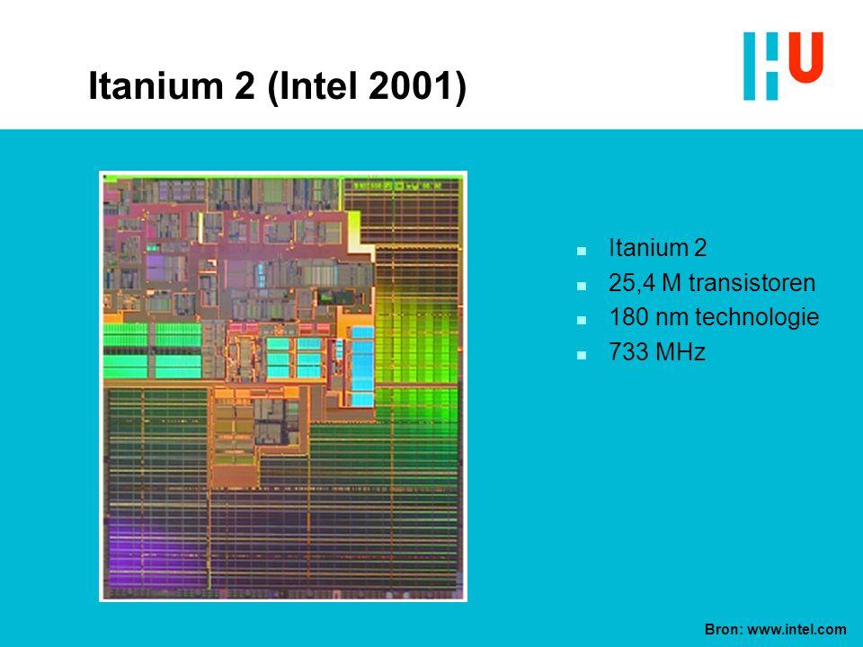 Itanium 2 (Intel 2001) Itanium 2 25,4 M transistoren
