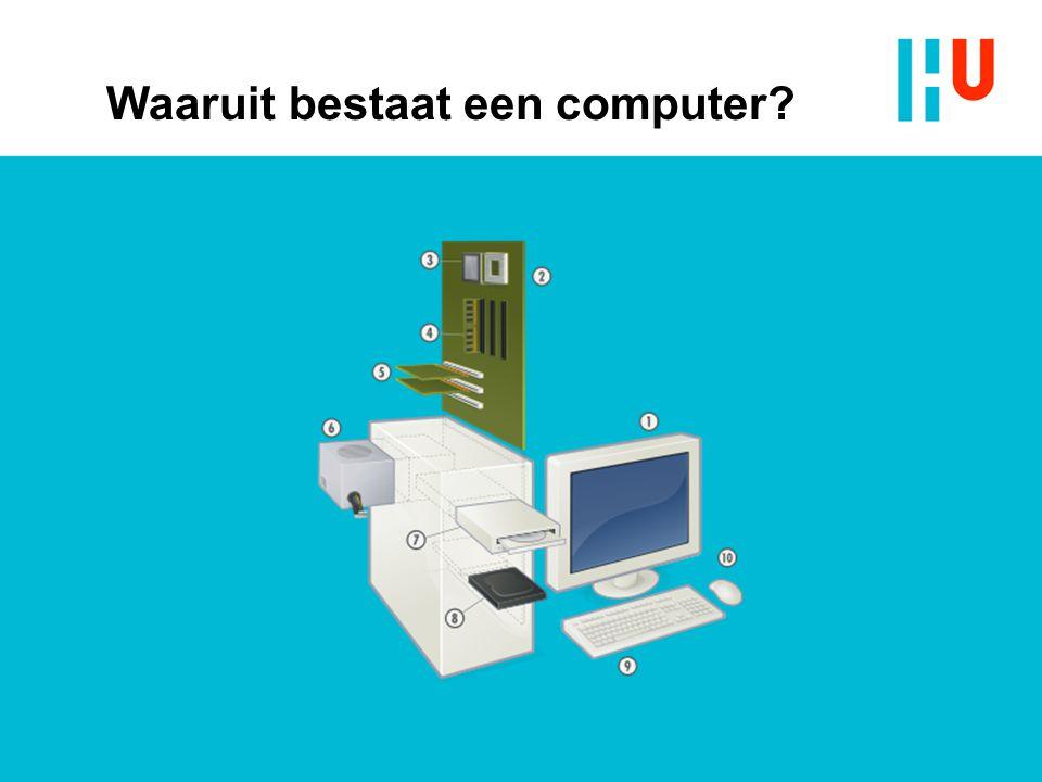 Waaruit bestaat een computer