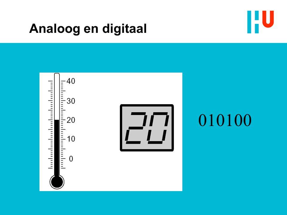 Analoog en digitaal 010100