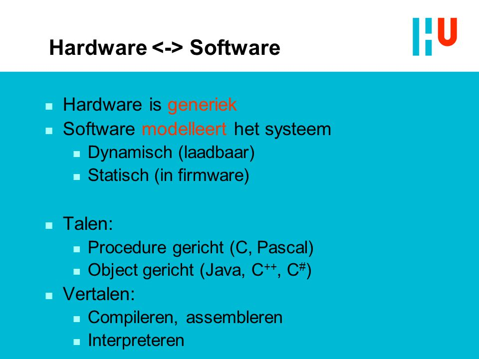 Hardware <-> Software