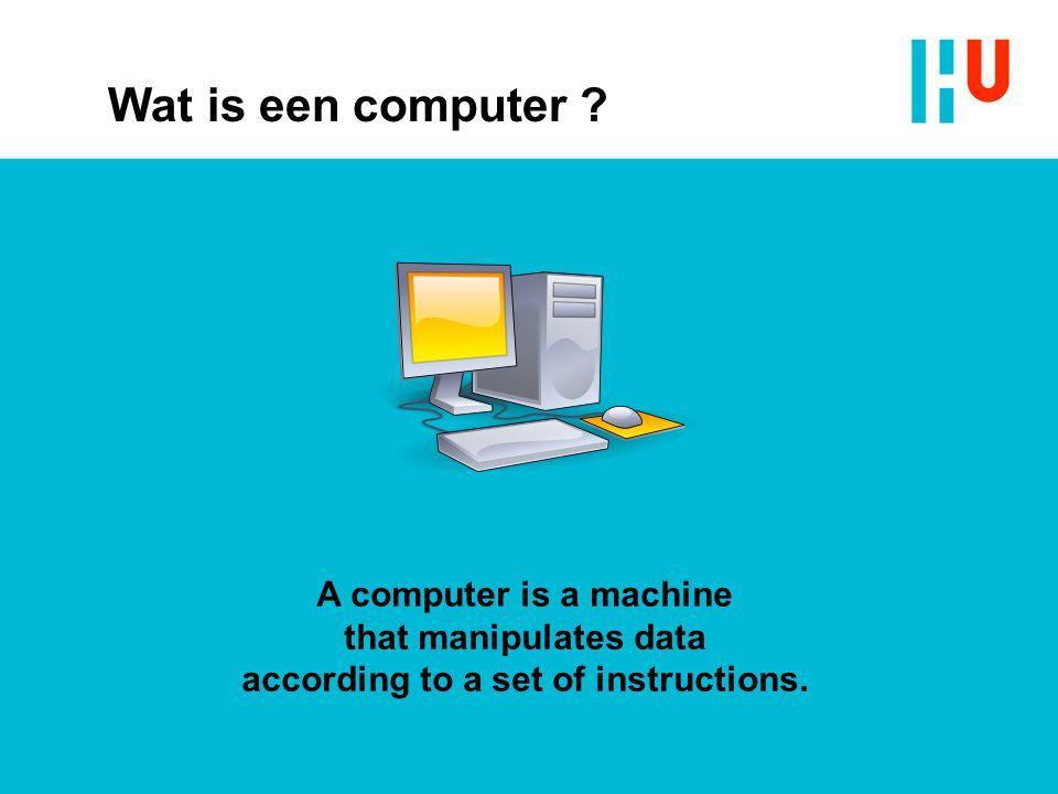 Wat is een computer .