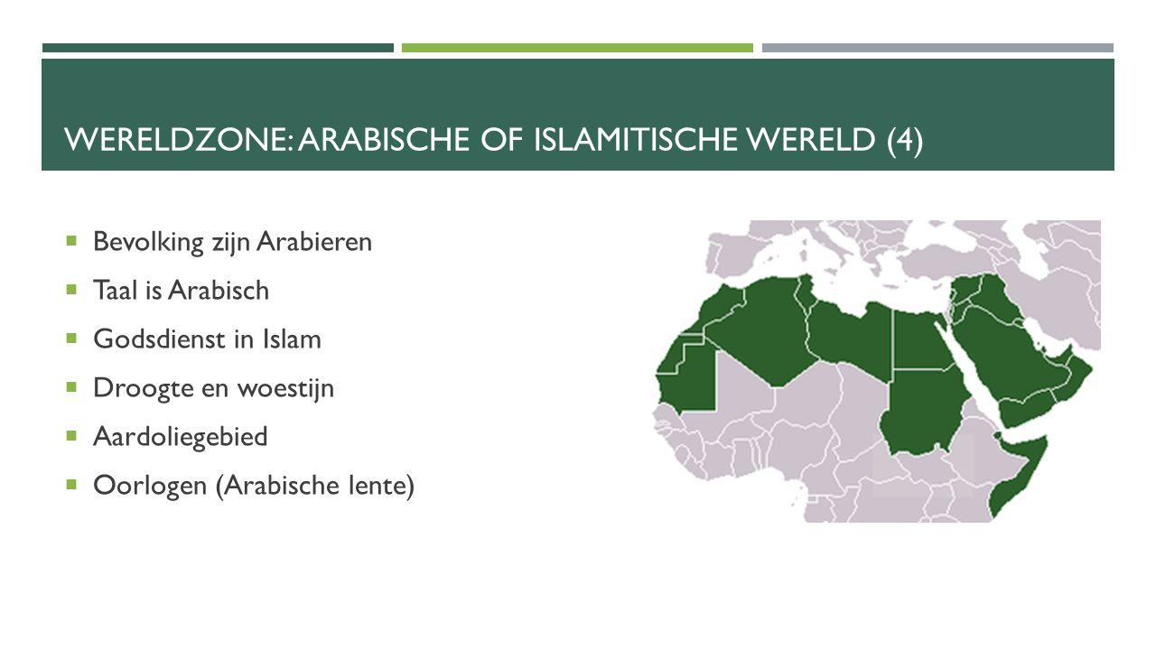 Wereldzone: Arabische of islamitische wereld (4)
