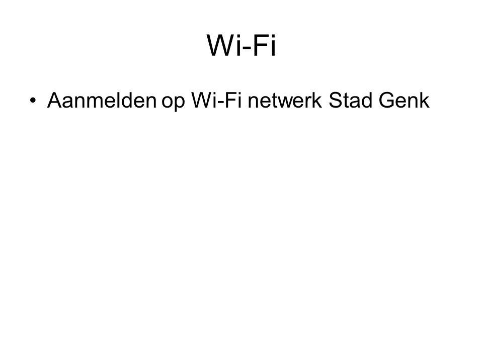 Wi-Fi Aanmelden op Wi-Fi netwerk Stad Genk