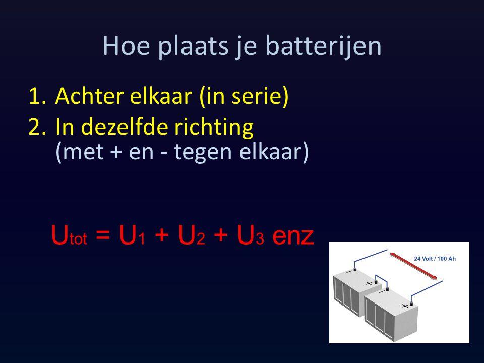 Hoe plaats je batterijen