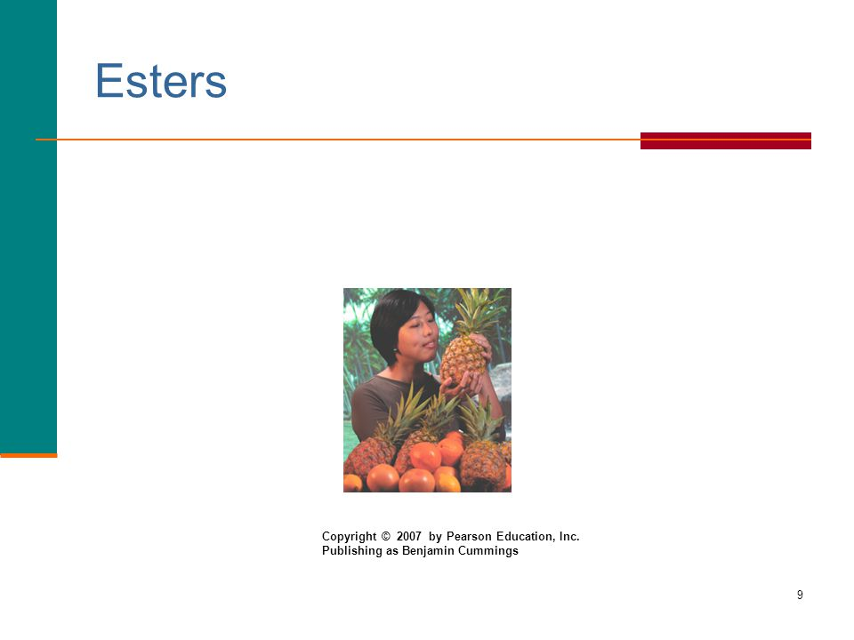 Esters Copyright © 2007 by Pearson Education, Inc.