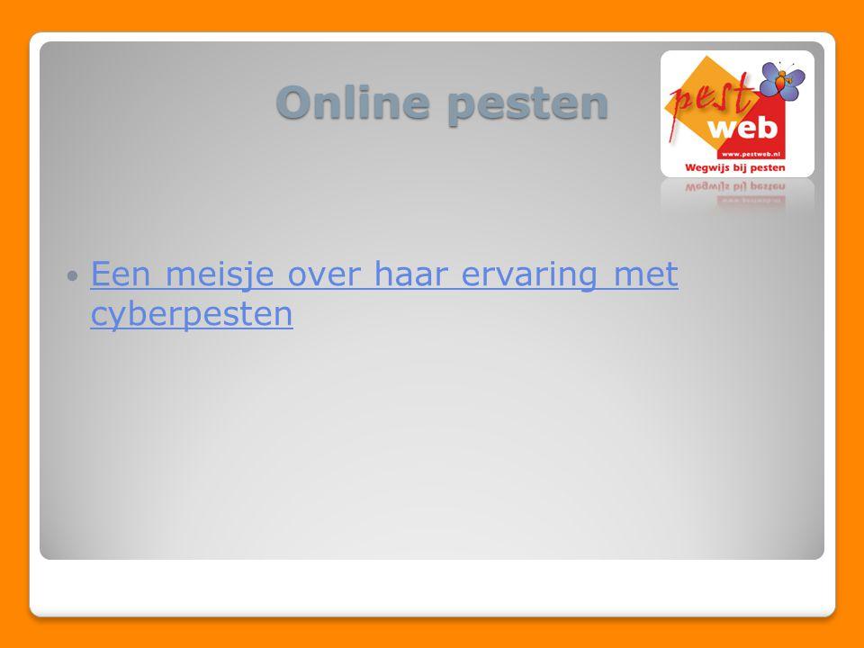 Online pesten Een meisje over haar ervaring met cyberpesten