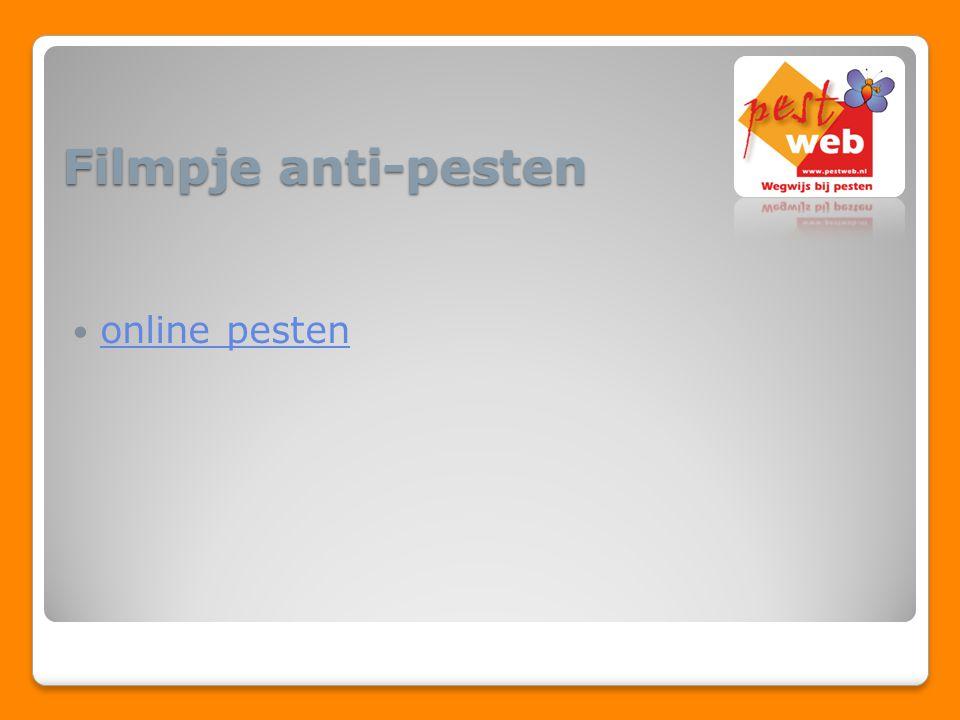 Filmpje anti-pesten online pesten