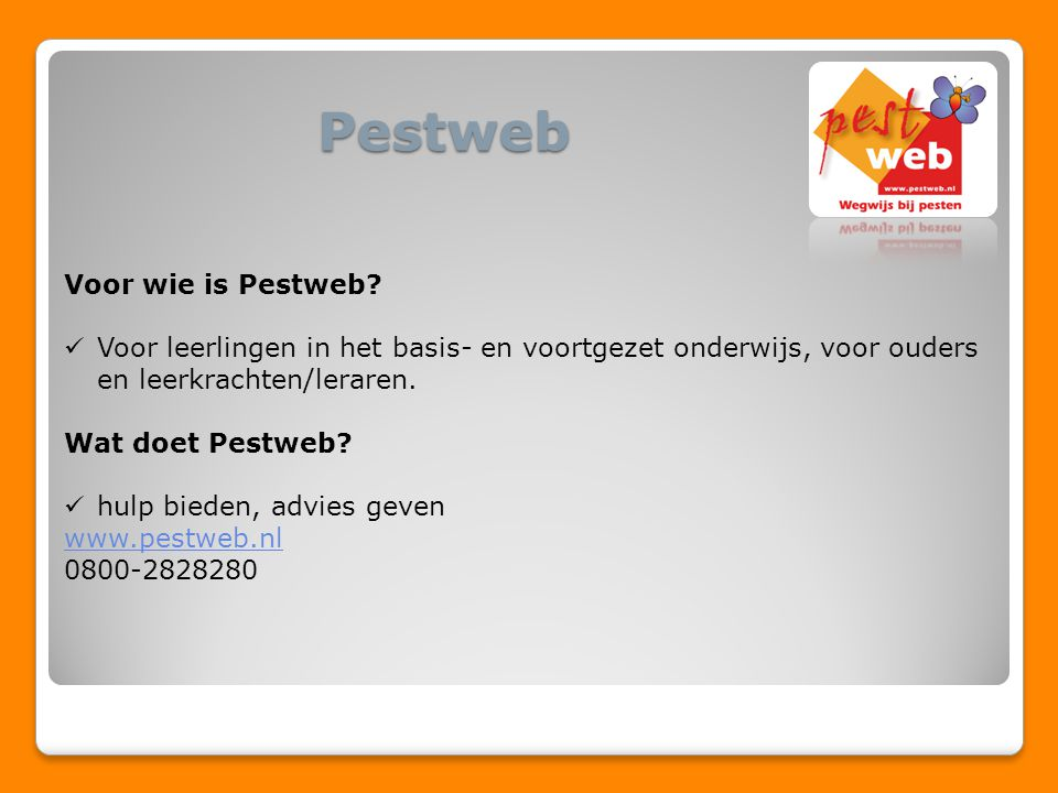 Pestweb Voor wie is Pestweb