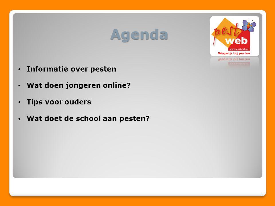 Agenda Informatie over pesten Wat doen jongeren online