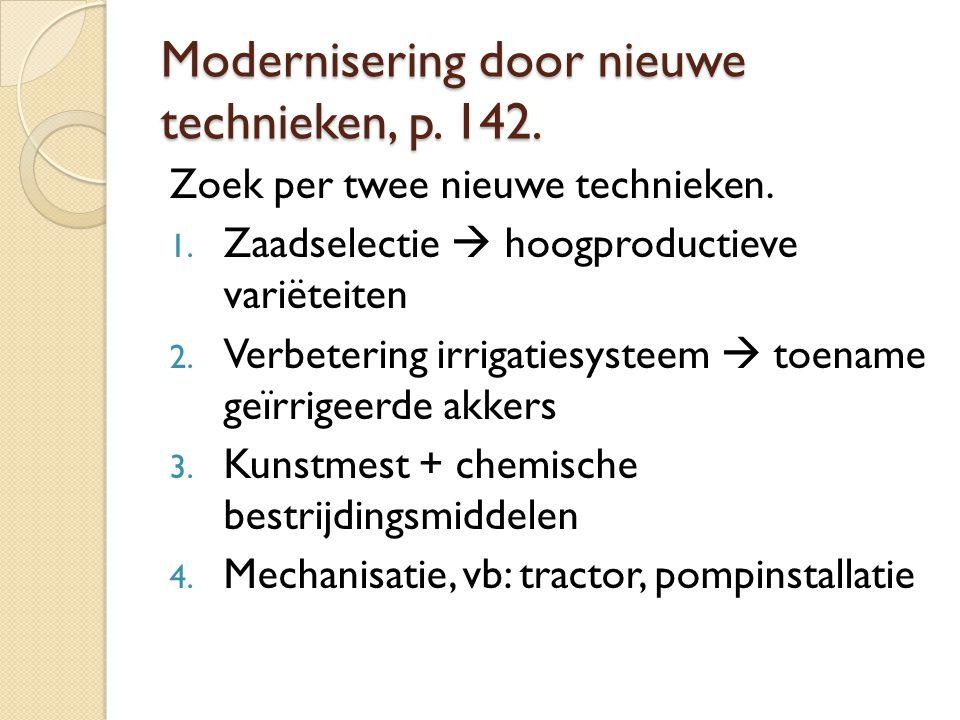 Modernisering door nieuwe technieken, p. 142.