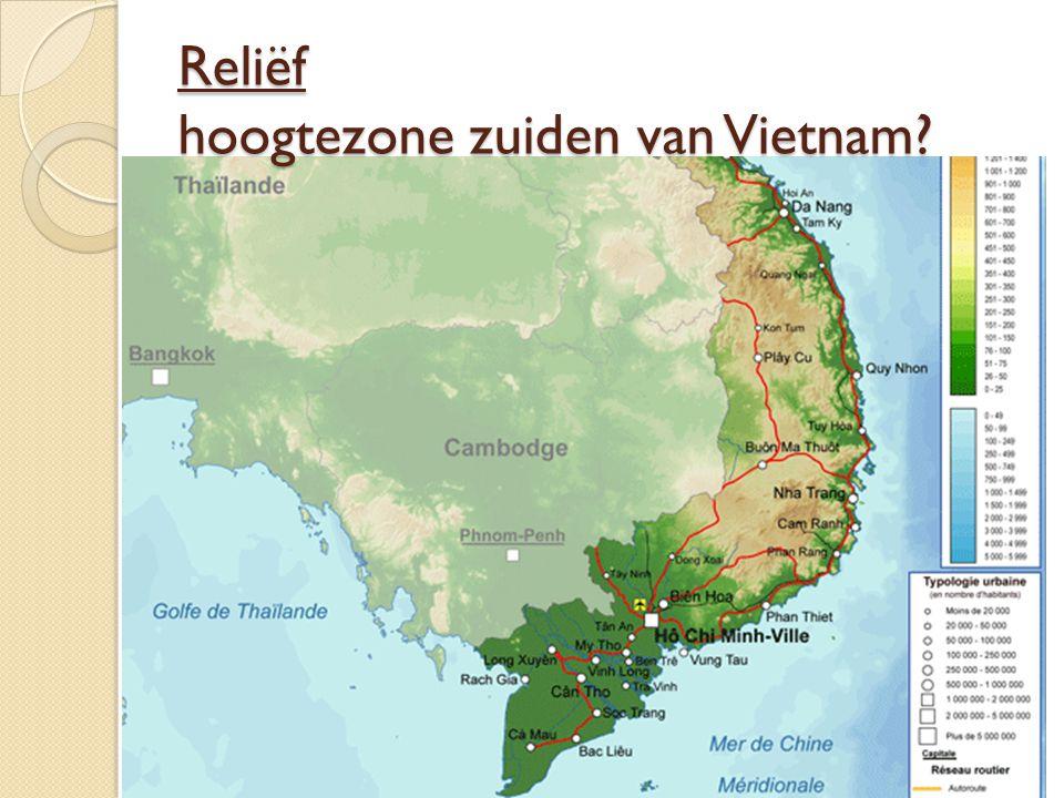Reliëf hoogtezone zuiden van Vietnam