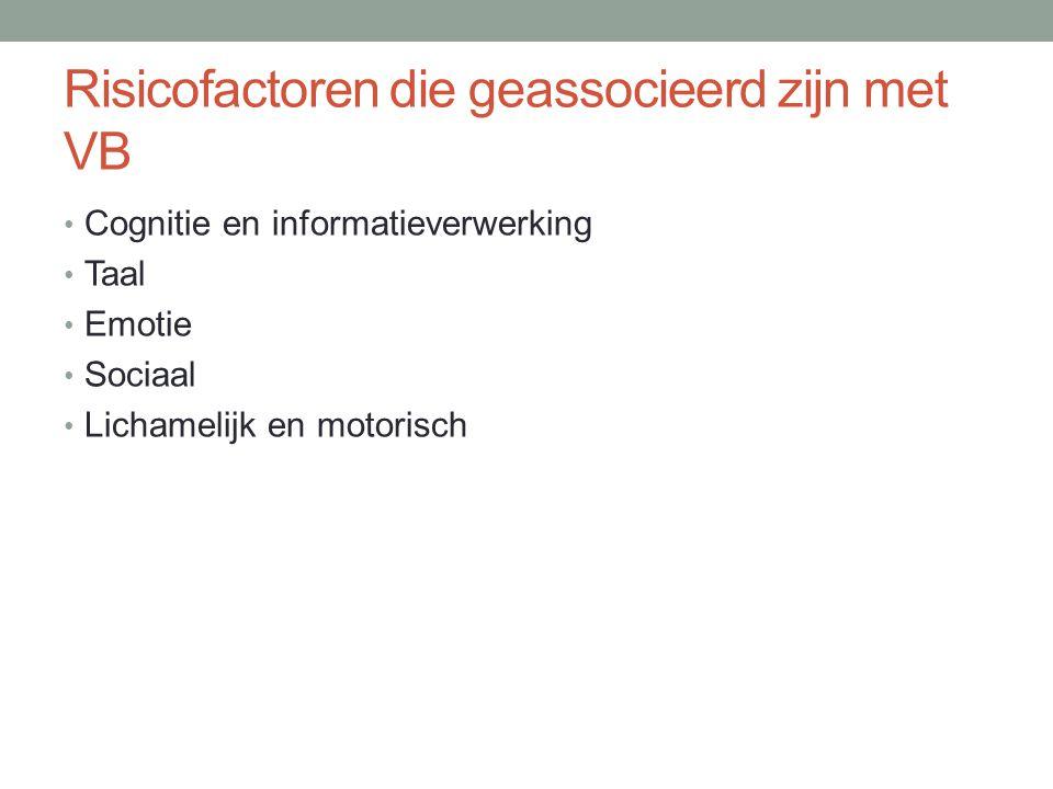Risicofactoren die geassocieerd zijn met VB