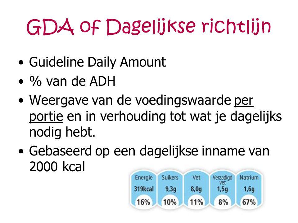 GDA of Dagelijkse richtlijn