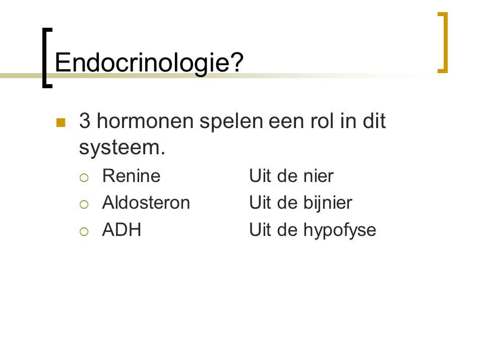 Endocrinologie 3 hormonen spelen een rol in dit systeem.