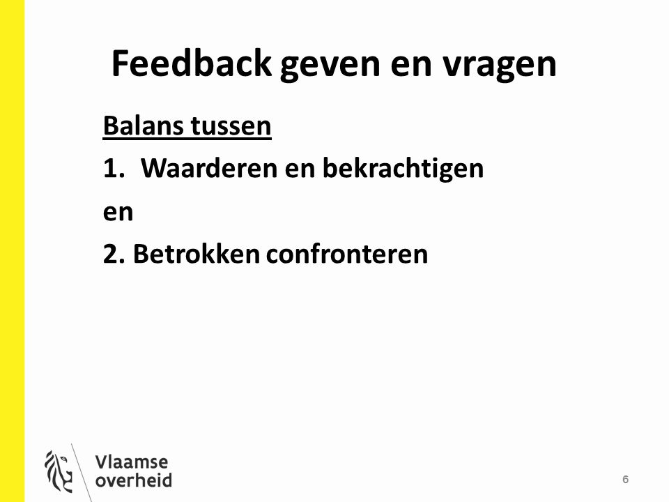 Feedback geven en vragen